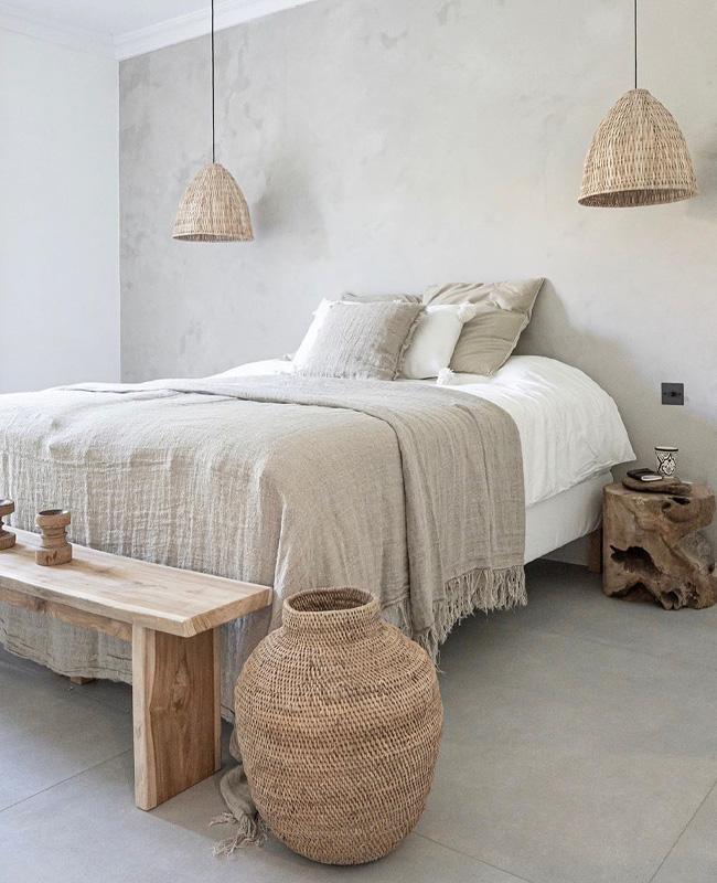 deco chambre bois nature beige