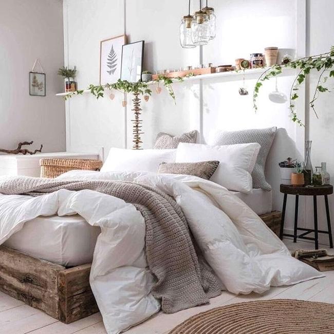 deco chambre bois nature lit