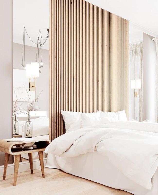 deco chambre bois nature moderne