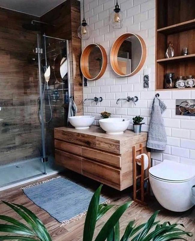 deco salle de bain industrielle béton bohème