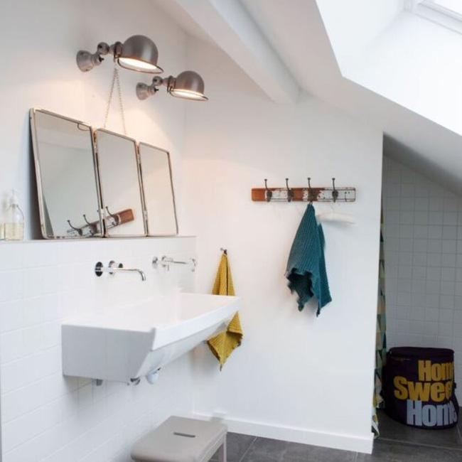 deco salle de bain industrielle blanche