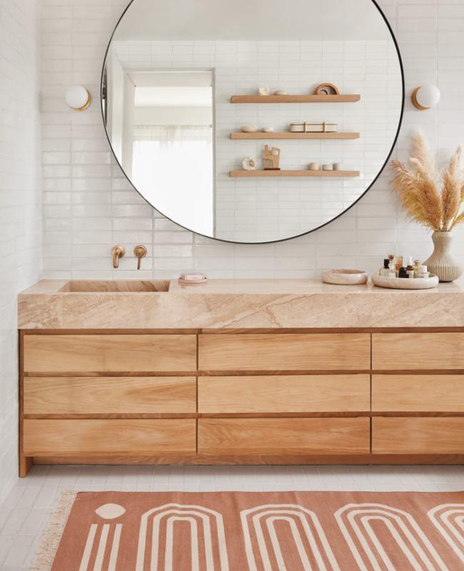 deco salle de bain minimaliste blanc bohème