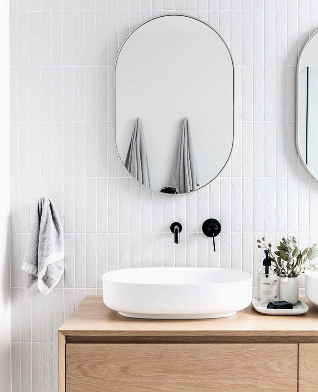 deco salle de bain minimaliste blanc bois