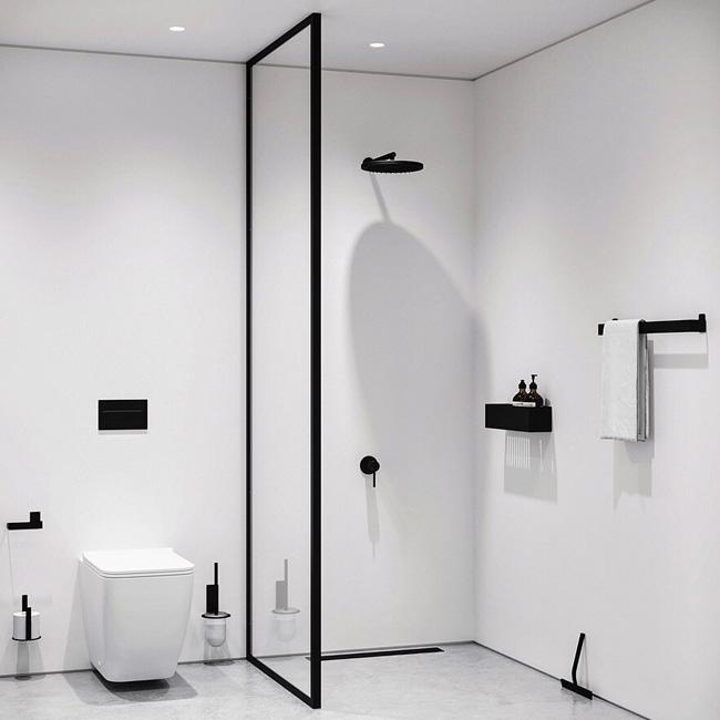 deco salle de bain minimaliste blanc noir
