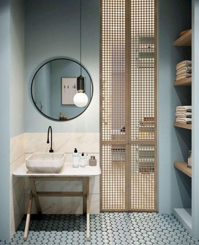 deco salle de bain zen moderne bleu