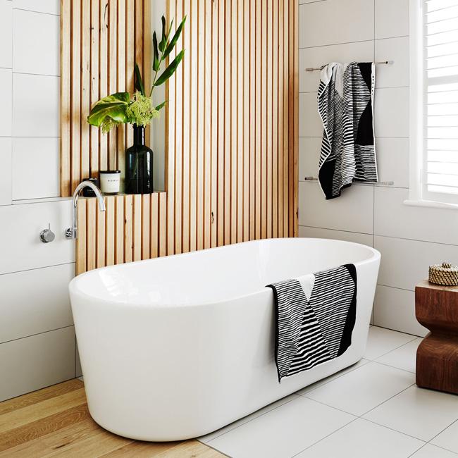 deco salle de bain zen moderne claustra bois