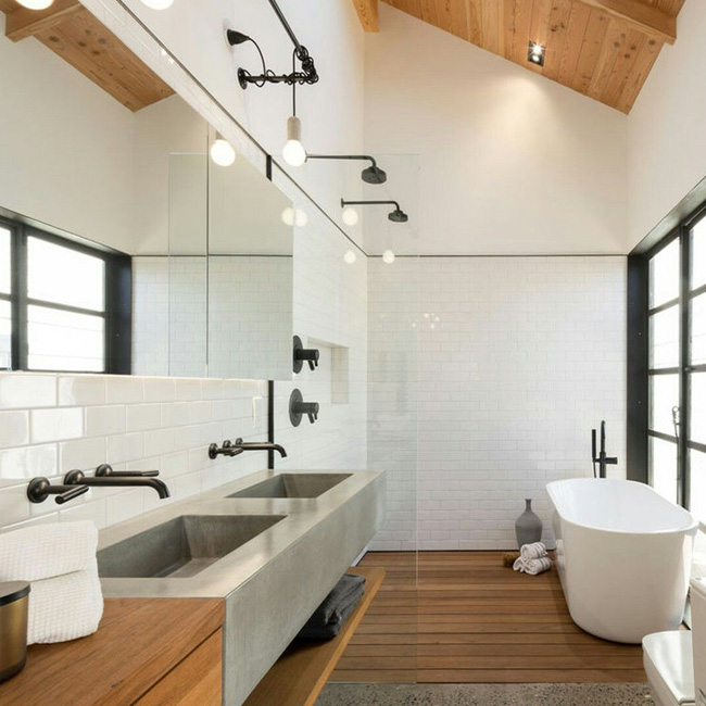 deco salle de bain zen moderne industrielle
