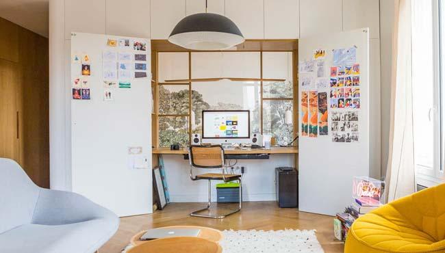 integrer bureau dans placard
