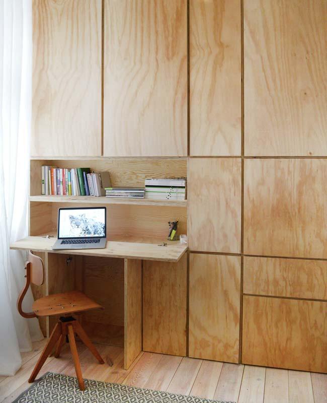 bureau placard bois sur mesure
