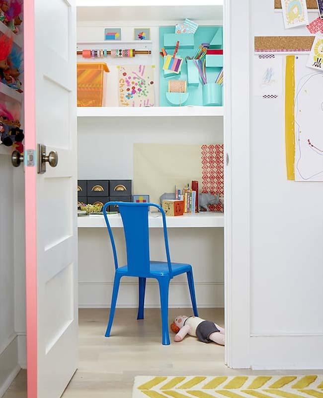 bureau placard enfant éclairage