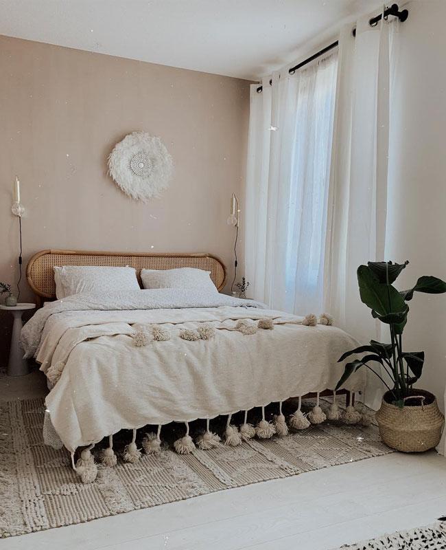 deco chambre beige boheme