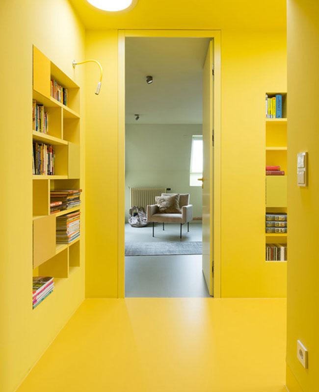 deco couloir jaune total look