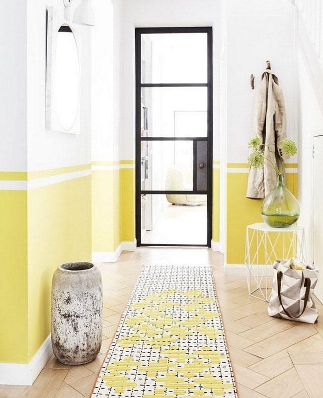 deco couloir jaune citron
