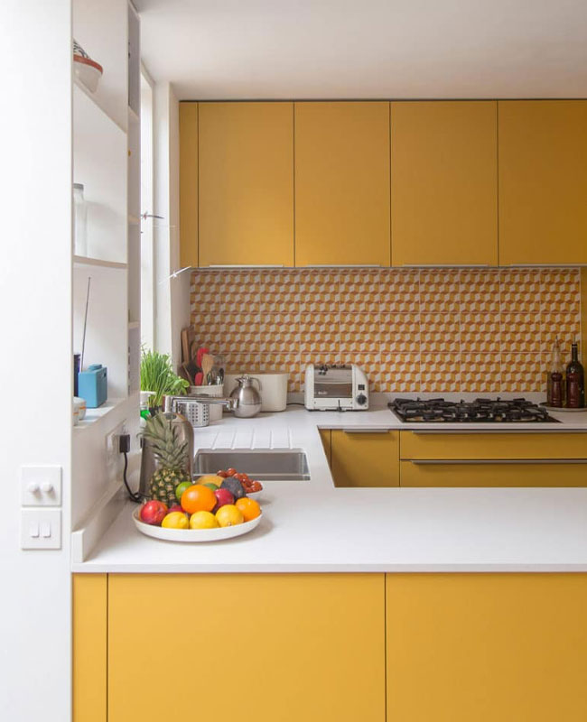 deco cuisine jaune moutarde total look