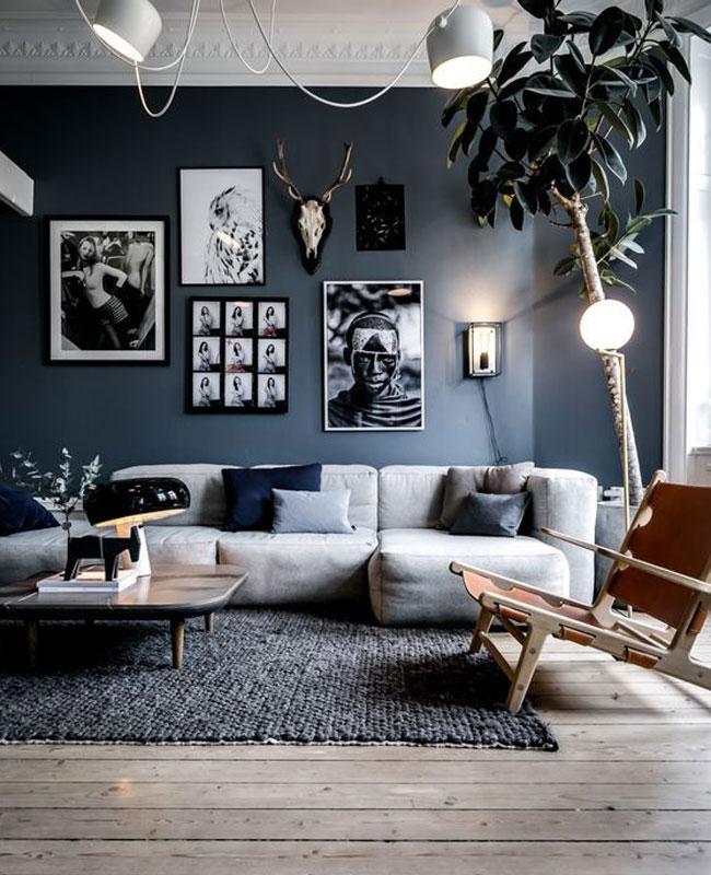 deco gris bleu salon