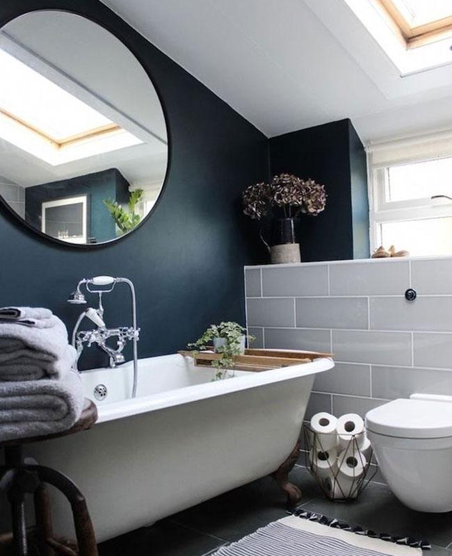 deco gris bleu canard salle de bain