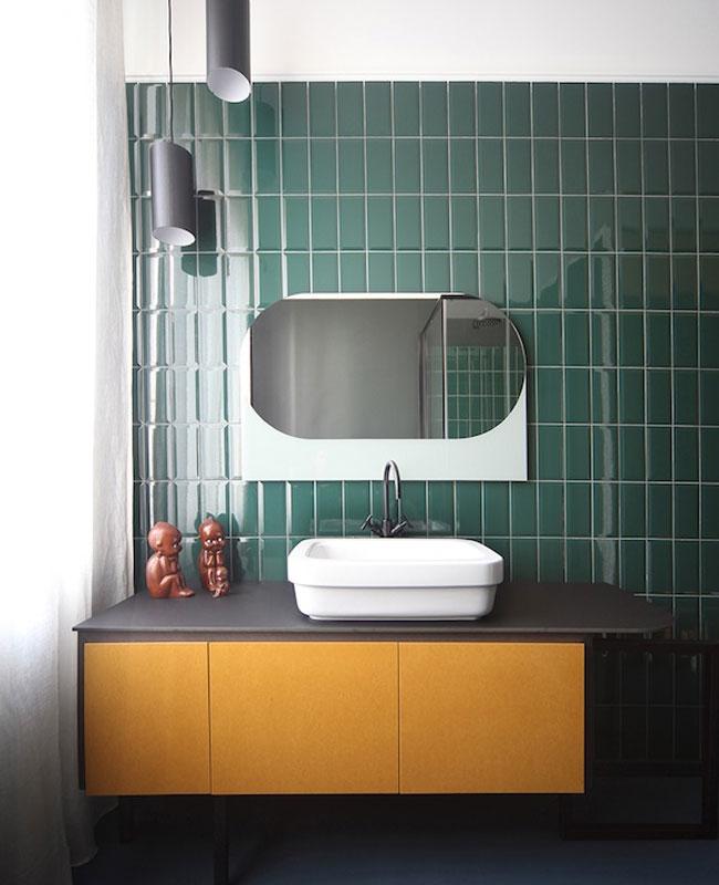 deco vert canard jaune salle de bain