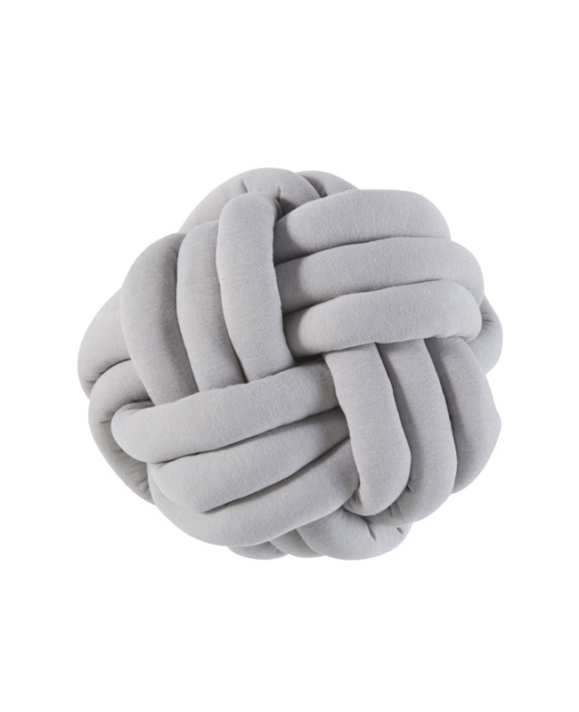 coussin noeud gris moderne