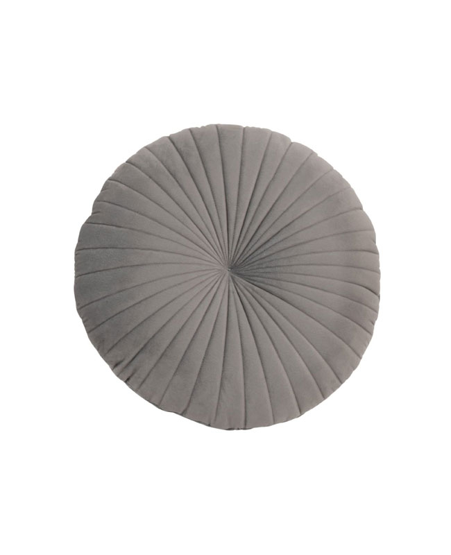 coussin rond gris
