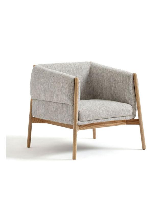fauteuil bois gris