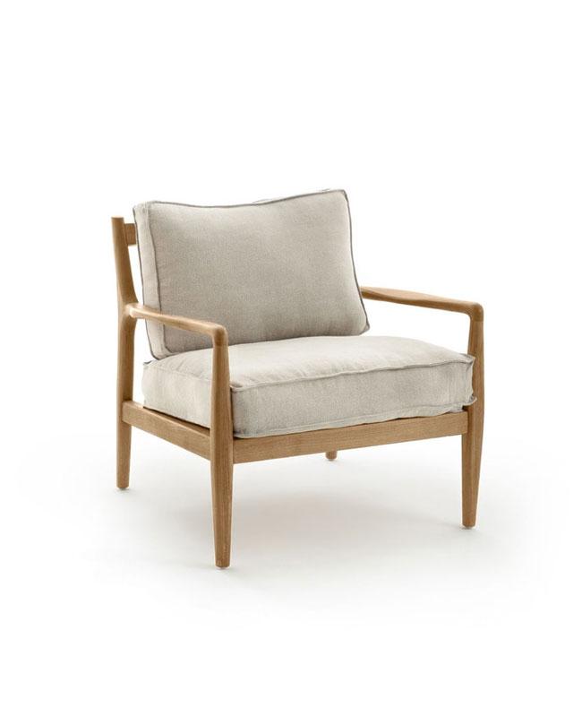 fauteuil bois nature