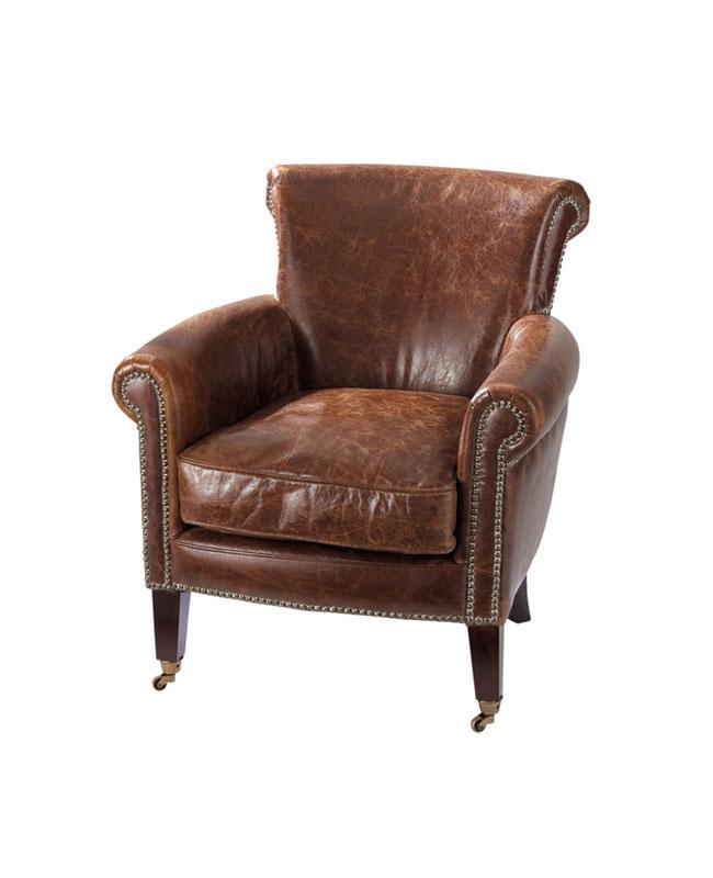fauteuil cuir vieillit campagne