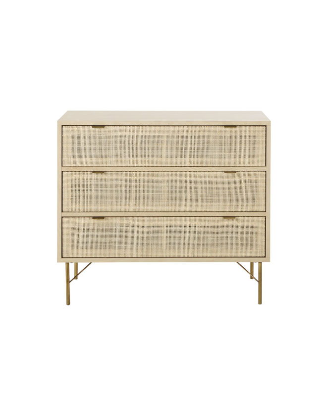 commode cannage beige