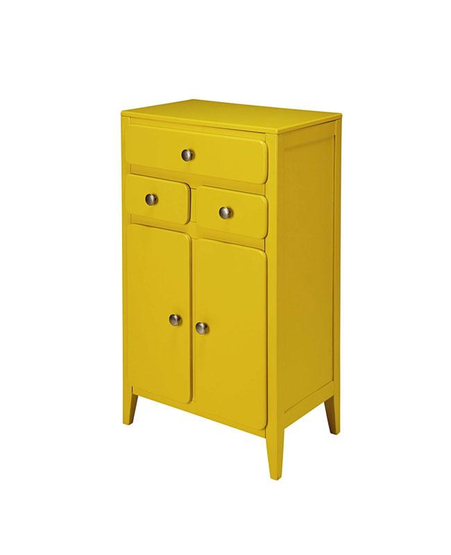 petite meuble jaune moutarde