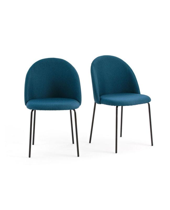 chaise moderne bleu canard