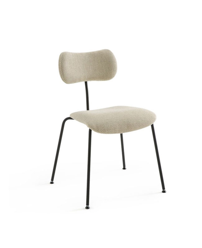 chaise moderne noir beige