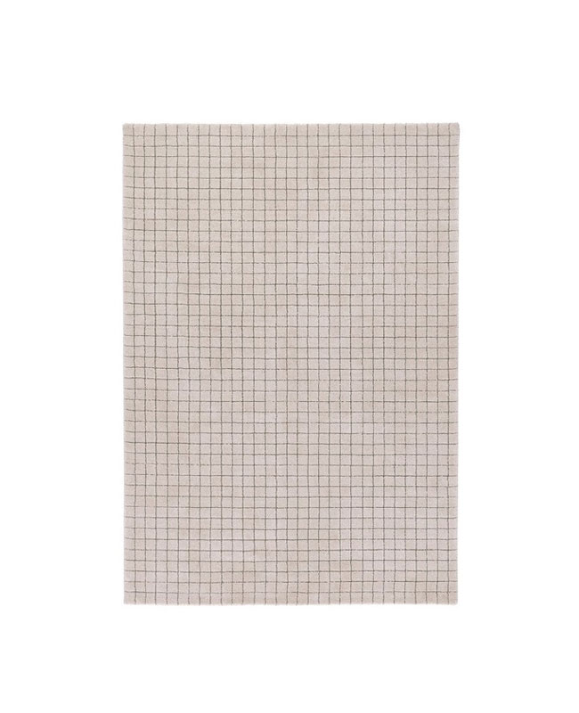 tapis carreaux beige