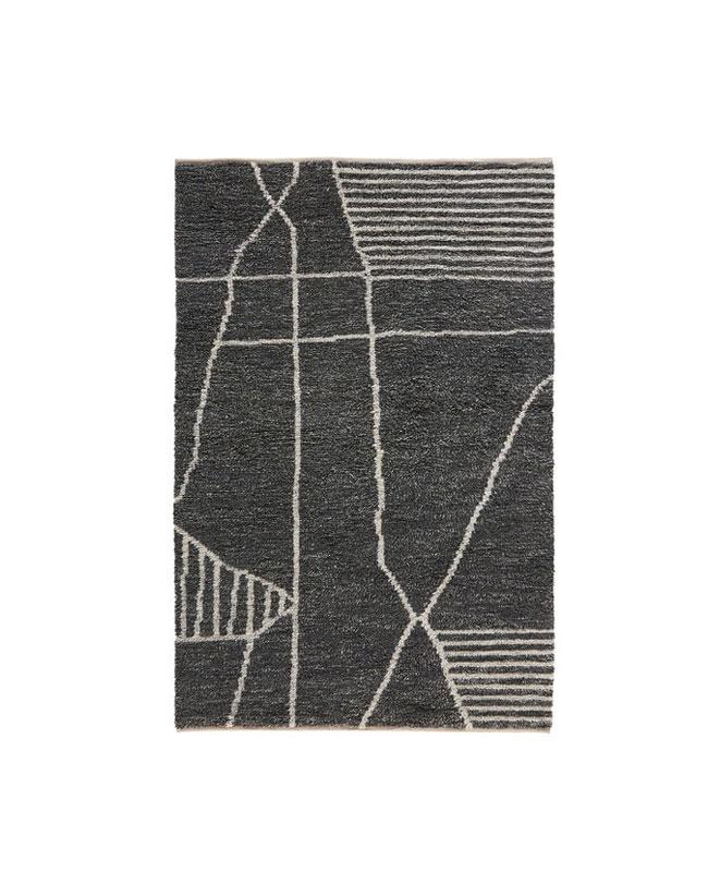 tapis kilim gris moderne