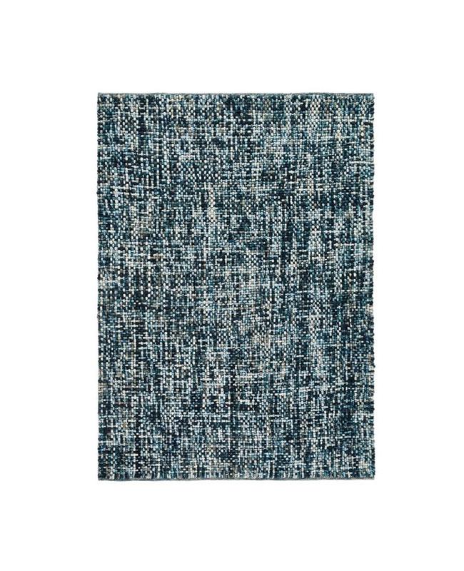 tapis laine bleu canard