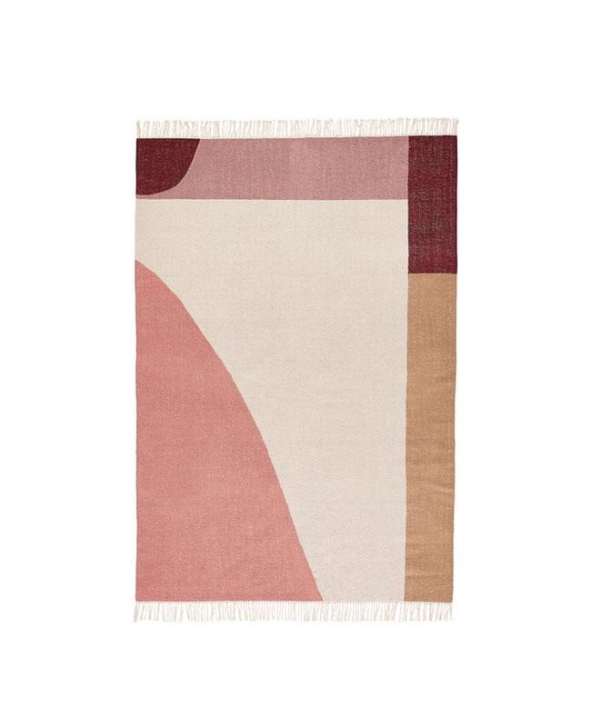 tapis motifs rose