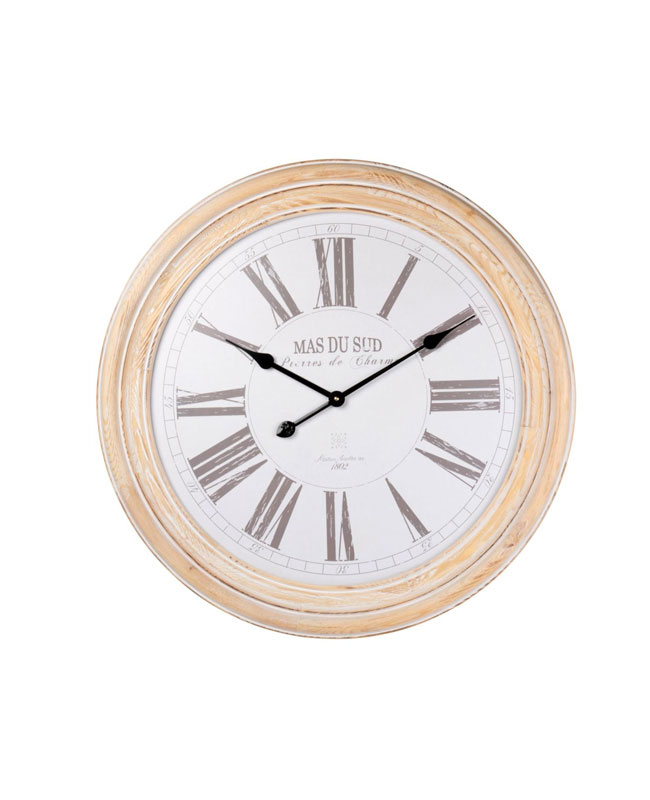 horloge bois campagne