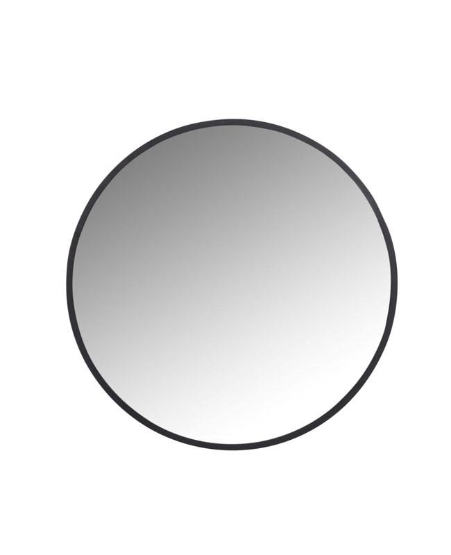 miroir rond metal noir moderne