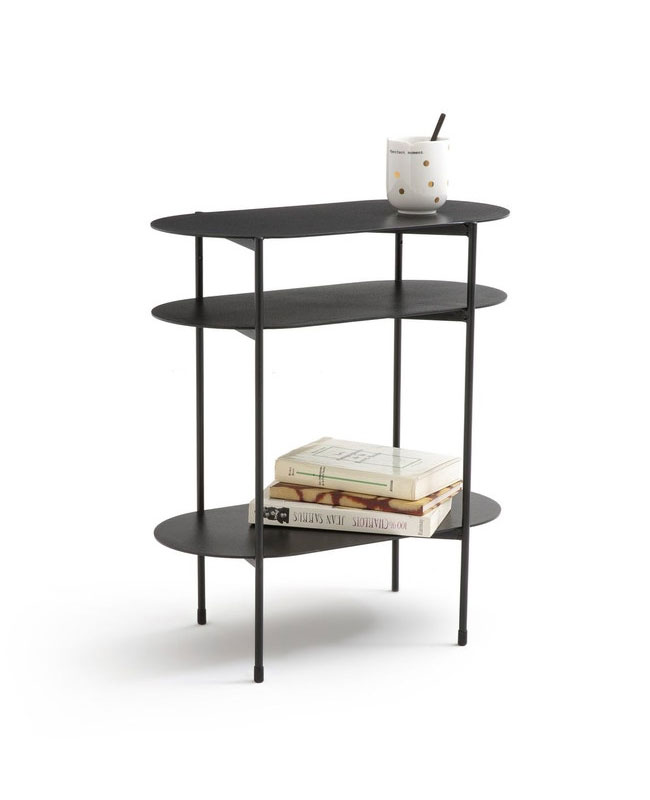 table appoint metal noir moderne