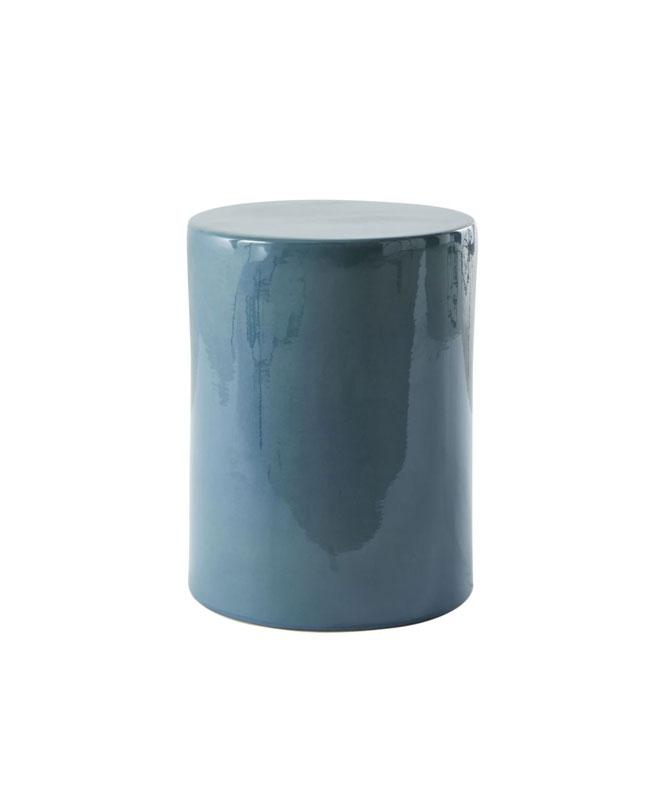 tabouret céramique bleu canard