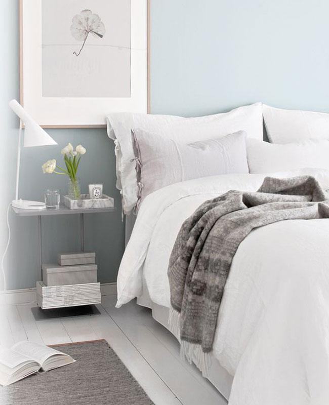 deco blanc bleu chambre pastel
