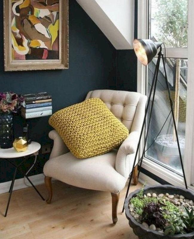 deco bleu canard beige fauteuil
