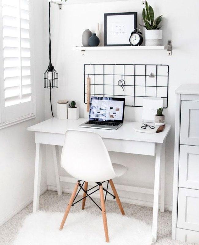 deco bureau blanc petit