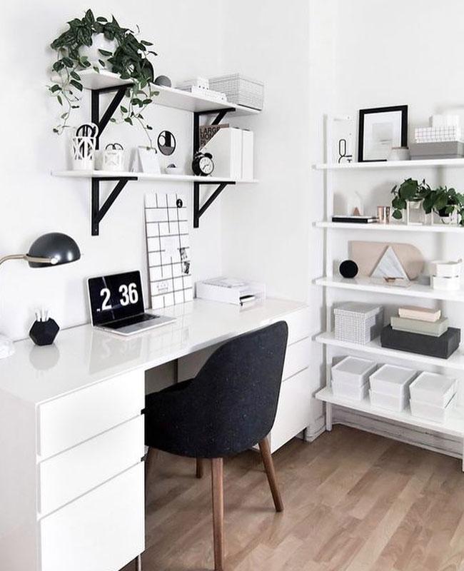 deco bureau blanc moderne