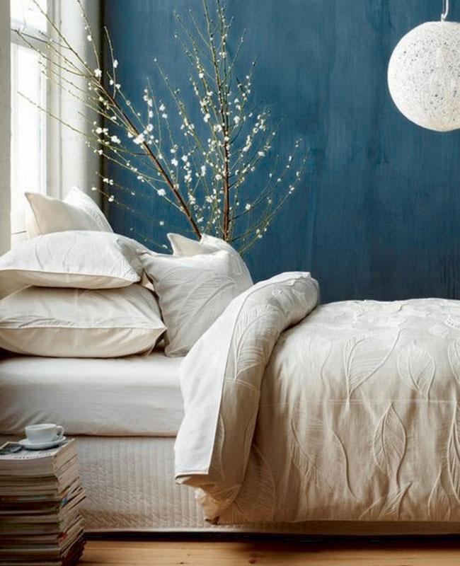 deco chambre bleu canard mur