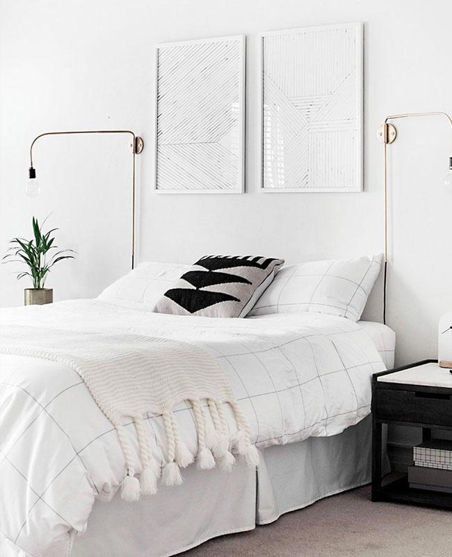deco chambre moderne blanc minimaliste