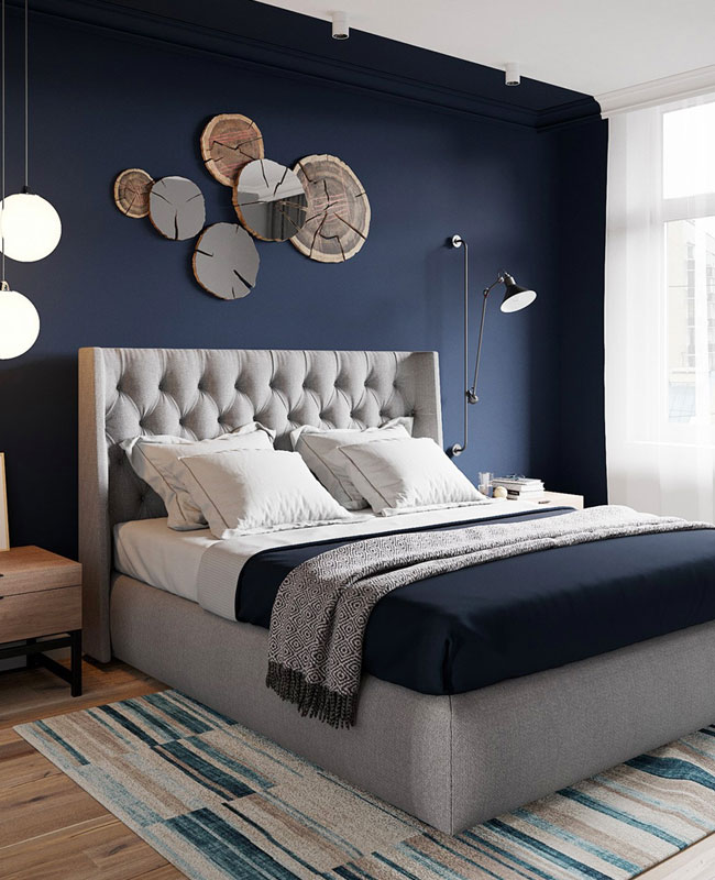 deco chambre moderne chic bleu