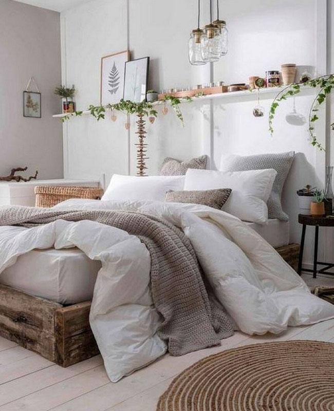 deco chambre nature blanc