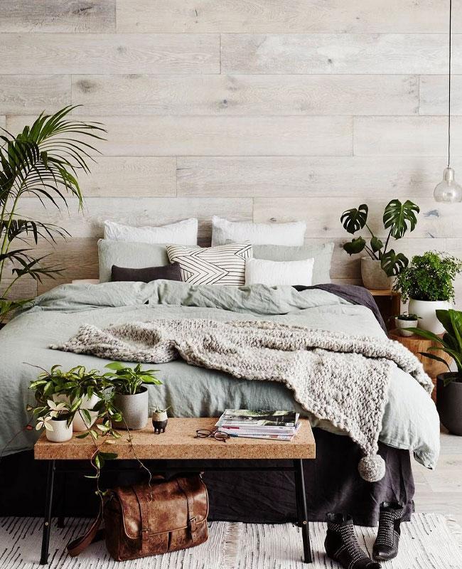deco chambre nature bois