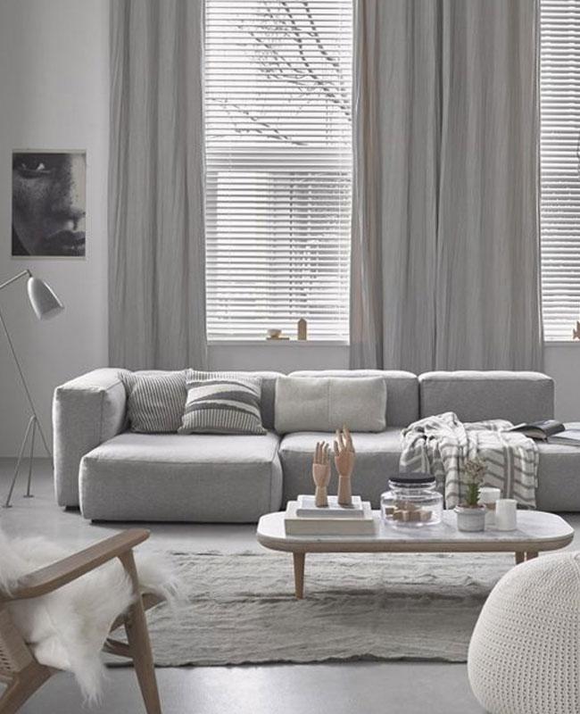 deco cosy gris salon moderne