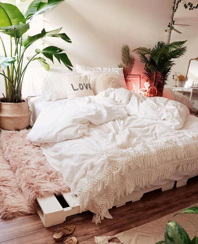 deco cosy rose chambre tapis