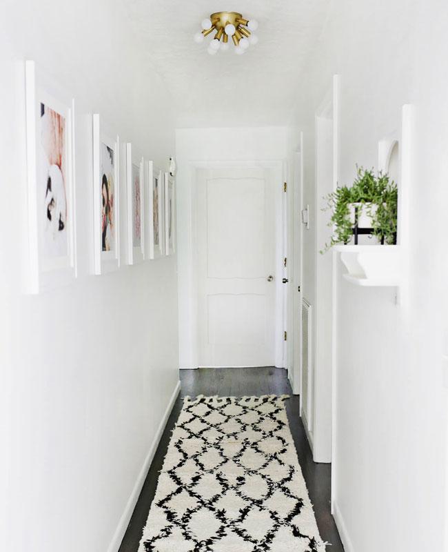 deco couloir blanc tapis berbère